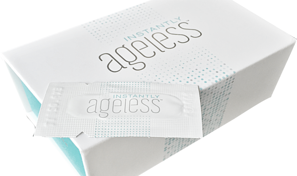 instantly ageless box and sachets by Jeunesse Global