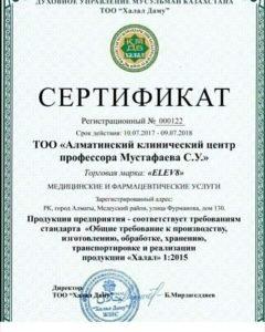 Сертификат Халяль для Elev8 (русский)