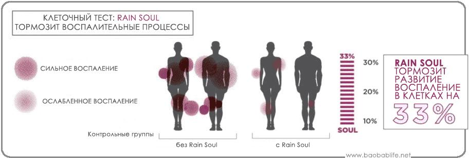 Тест Rain Soul против воспаления