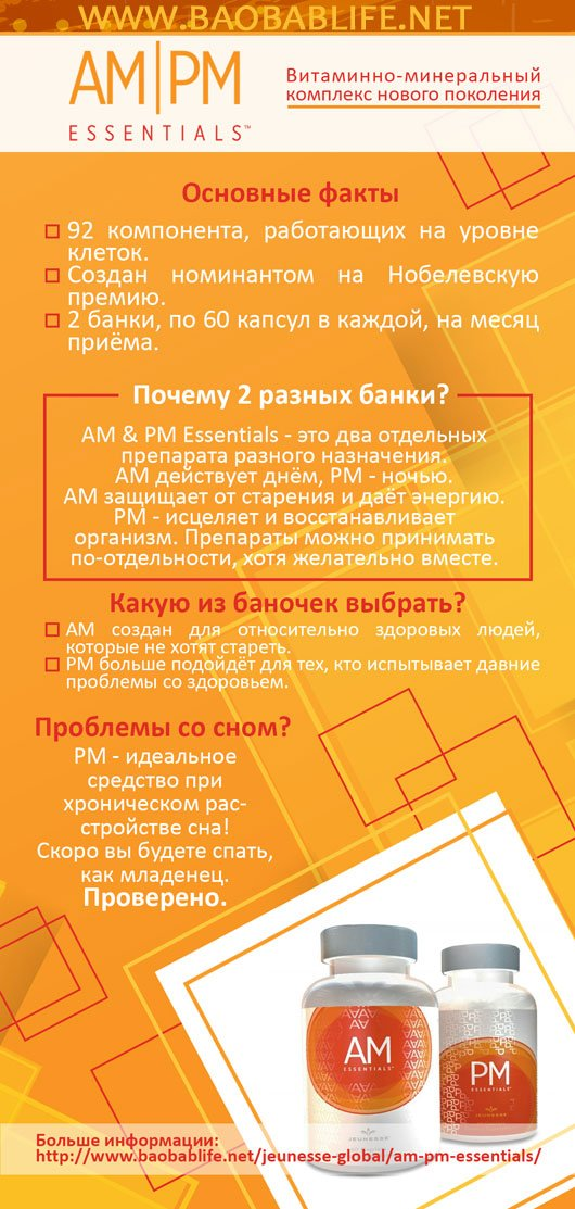 Jeunesse AM PM Essentials буклет на русском