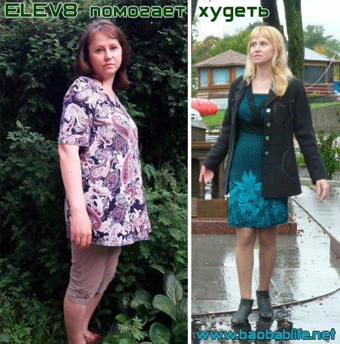 Результат похудения с Elev8