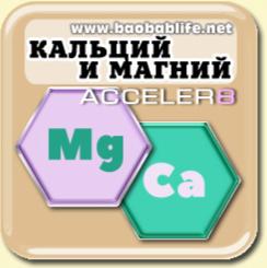 Цитрат магния и кальция в составе Acceler8