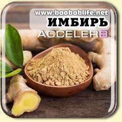 Имбирь - ингредиент Acceler8